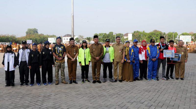 Wagub Banten Lepas Kontingen Popnas, Peparnas, Pornas Korpri dan 2 Kejurnas
