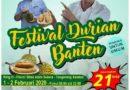 Pemprov Kembali Gelar Festival Durian, 1.000 Durian Gratis Siap Disantap