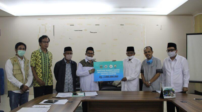 Dana Zakat Pemprov Banten Mulai Disalurkan, Bantu Marbot Mesjid dan Pesantren Terbakar