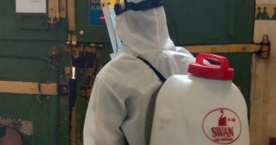 Lagi, Rutan Kelas IIB Serang Disemprot Disinfektan